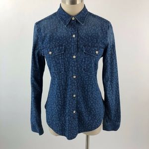 GAP Women's Button Down Printed Boy Shirt